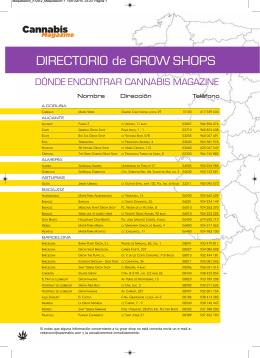 DIRECTORIO de GROW SHOPS