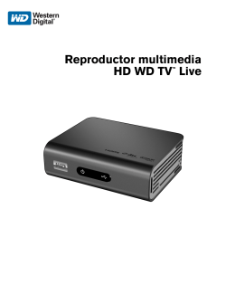 WD TV™ Live HD Media Player - User Manual