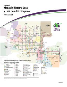 Mapa del Sistema Local y Guía para los Pasajeros