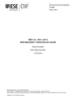 ibex 35: 1991-2010 rentabilidad y creacion de valor