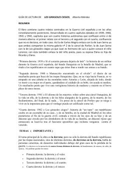 GUÍA DE LECTURA DE LOS GIRASOLES CIEGOS
