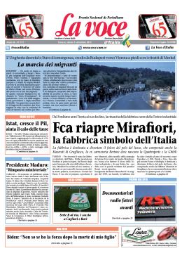 05 SETTEMBRE 2015 - La Voce d`Italia