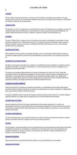 GLOSARIO ADUANERO - German Busch Ltda.