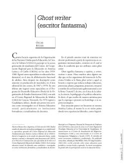 Ghost writer (escritor fantasma) - Sinéctica Revista electrónica de