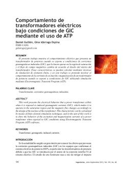 Comportamiento de transformadores eléctricos bajo condiciones de