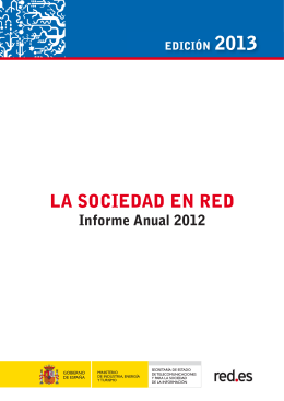 LA SOCIEDAD EN RED. Informe Anual 2012 - Ontsi