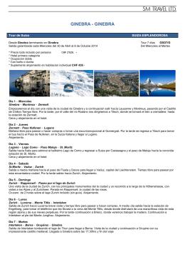 GINEBRA - GINEBRA - Altair Travel & Services