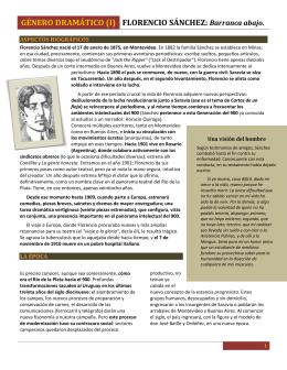 Sobre Florencio Sánchez y el Género Dramático