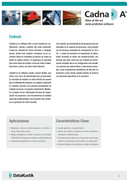 CadnaA Aplicaciones Características Clave