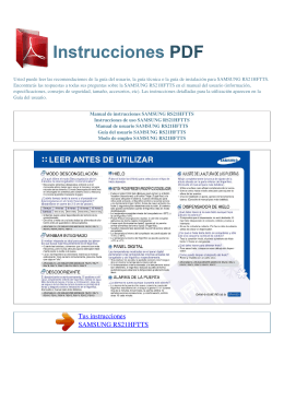 Manual de instrucciones SAMSUNG RS21HFTTS