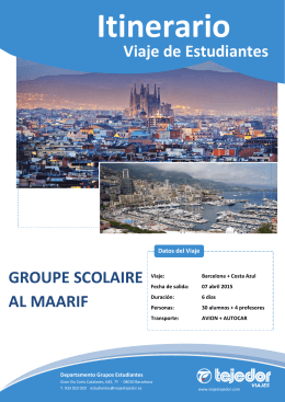 Viaje de Estudiantes GROUPE SCOLAIRE AL MAARIF