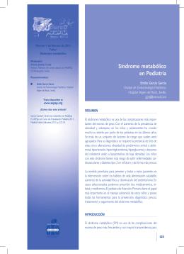 Síndrome metabólico en Pediatría - Cursos de formación de la AEPap