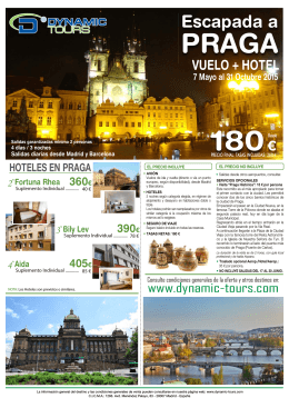 07/05 al 31/10 - slogan Dynamic Tours