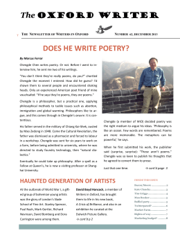 The Oxford Writer, December 2013