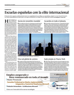 Escuelas españolas con la elite internacional - Carlos García-León
