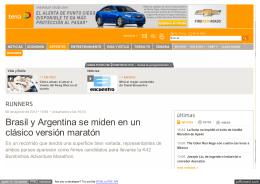 Brasil y Argentina se miden en un clásico versión maratón