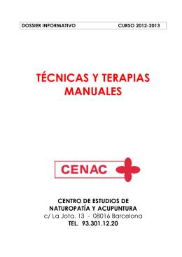 Programa completo de Técnicas y Terapias Manuales