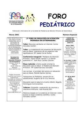 Número especial - Sociedad de Pediatría de Atención Primaria de