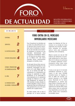 Foro entra en el mercado inmobiliario mexicano