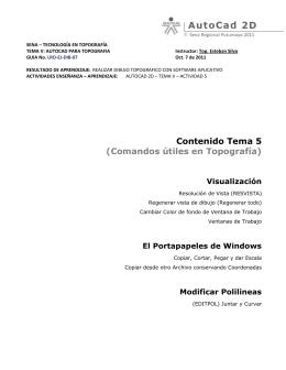 Contenido Tema 5 (Comandos útiles en Topografía) Visualización