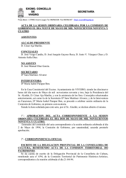 ACTA DE LA SESION ORDINARIA CELEBRADA POR LA