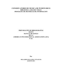 Ejemplos de referencias bibliográficas según el estilo APA