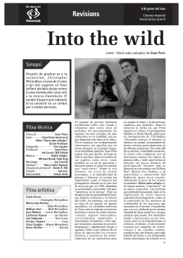 into the wild.FH11 - Cineclub Sabadell