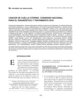 cáncer de cuello uterino. consenso nacional para el diagnóstico y