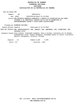 Ley 80 de 2009
