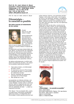 Fibromialgia – la curación es posible - fms