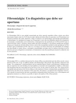 Fibromialgia: Un diagnóstico que debe ser oportuno