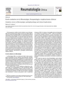 Estrés oxidativo en la fibromialgia