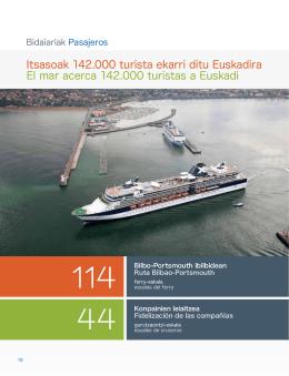 Itsasoak 142.000 turista ekarri ditu Euskadira El mar acerca 142.000
