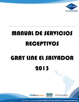 manual de servicios receptivos gray line el salvador 2013