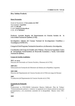 CV - Ministerio de Seguridad