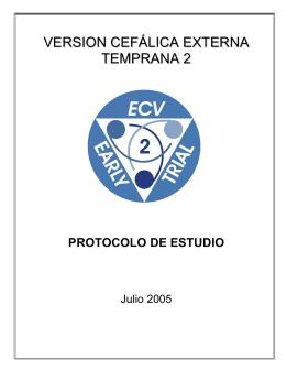 version cefálica externa temprana 2