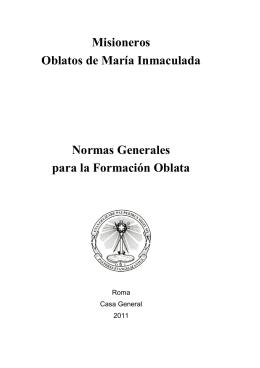 Misioneros Oblatos de María Inmaculada Normas Generales para la