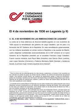 El 4 de noviembre de 1936 en Leganés
