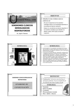 sindromes clinicos semiologicos respiratorios sindrome de