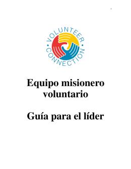 Equipo misionero voluntario Guía para el líder