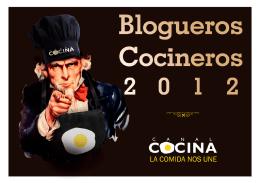 Dossier Blogueros cocineros 2012
