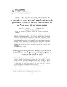 Resolución de problemas por medio de matemática experimental