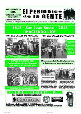 1815 - San Juan Bosco - 2015 ¡¡HACIENDO LIO!! DESPUES DE