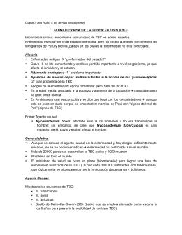 QUIMIOTERAPIA DE LA TUBERCULOSIS