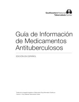 Guía de Información de Medicamentos Antituberculosos