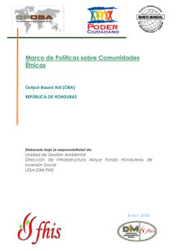 oba etnias 6-02-2008.. - FHIS Fondo Hondureño de Inversión Social