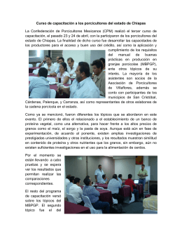 Curso de capacitación a los porcicultores del estado de Chiapas La