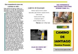 CAMINO DE SANTIAGO para JÓVENES