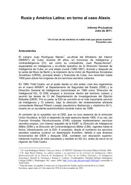 Rusia y América Latina: en torno al caso Alexis