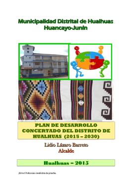Municipalidad Distrital de Hualhuas Huancayo